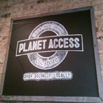 Planet Access Store sign
