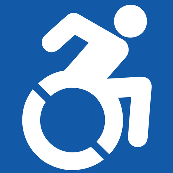 Accessibility Logo Courtesy of The Accessible Icon Project