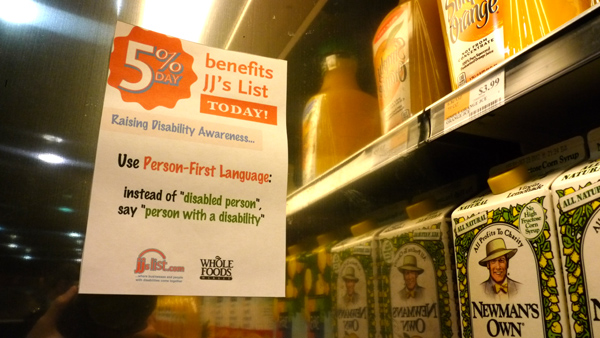 Disability Awareness Facts around Whole Foods: Person First Language