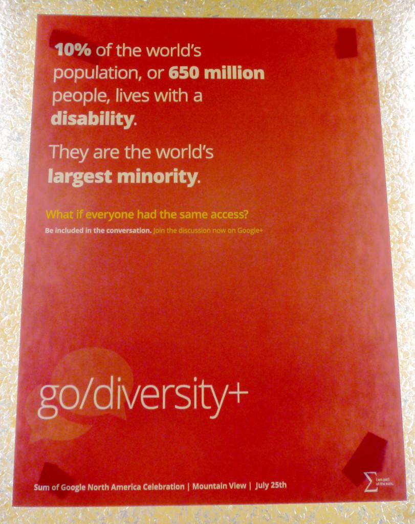 Google Diversity Poster - Disability