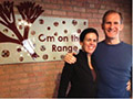 Terry and Beth Kiely at Om on the Range Yoga Studio in Chicago