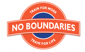 No Boundaries - Train For Work, Train For Life Logo
