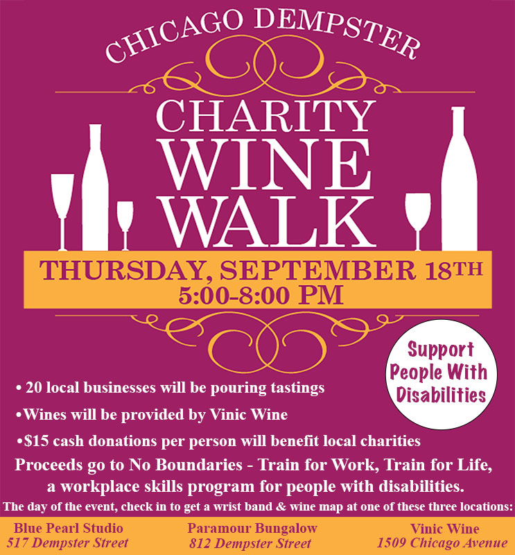 Chicago Dempster Merchants Wine Walk