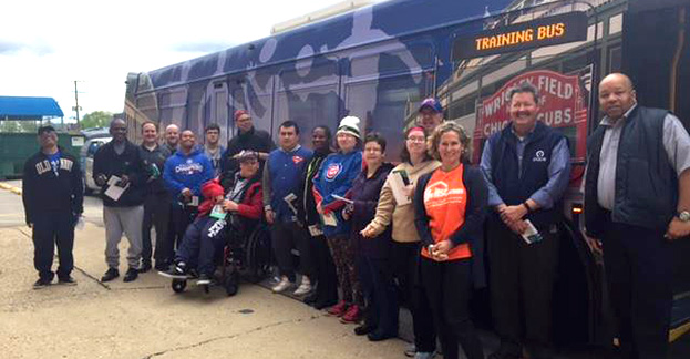 Hop On The Bus To Independence Participants With Pace Bus