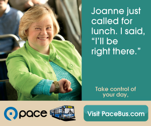 "Pace Bus Passenger sayd ""Joanne just called for lunch. I said, ""I'll be right there."" Take control of your day. Visit PaceBus.com"