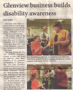 "Glenview Lantern Article ""Glenview Business Builds Disability Awareness"""