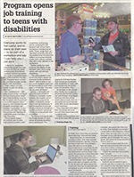 "Wilmette Life article ""Program Opens Job Training to Teens with Disabilities"